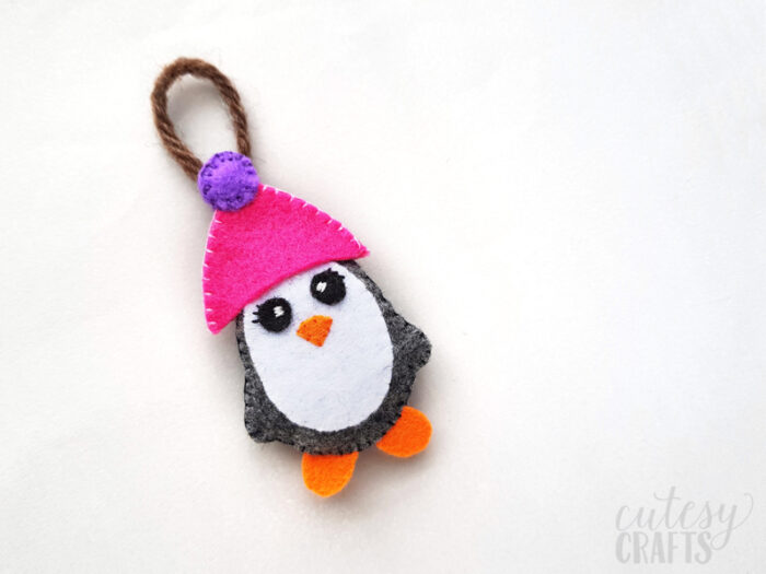 Felt Penguin Christmas Ornament with Free Pattern