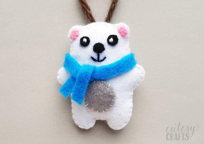 felt polar bear pattern