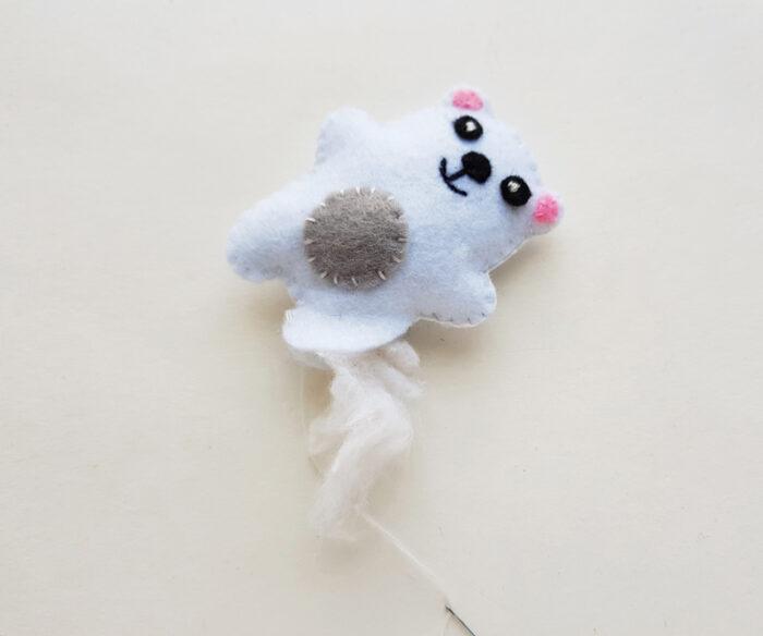 Felt Polar Bear Stuffie Pattern
