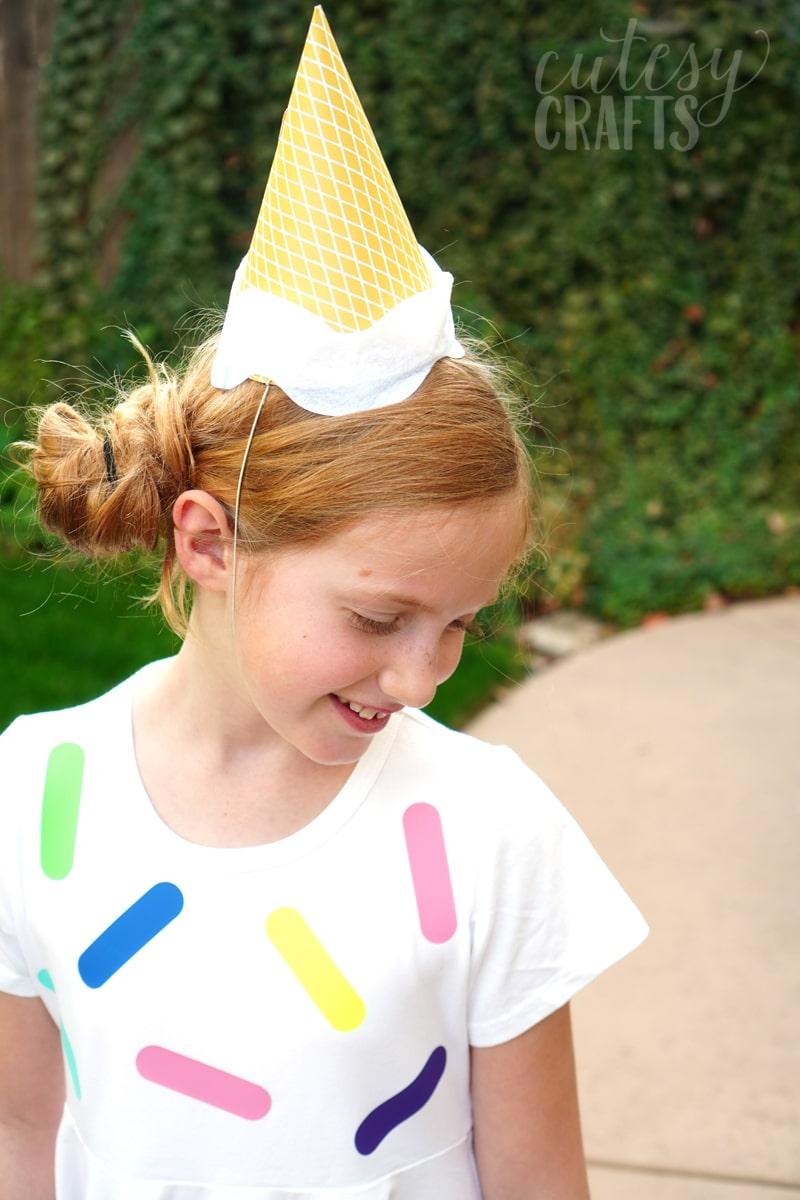 Last Minute Halloween Costume - Ice Cream
