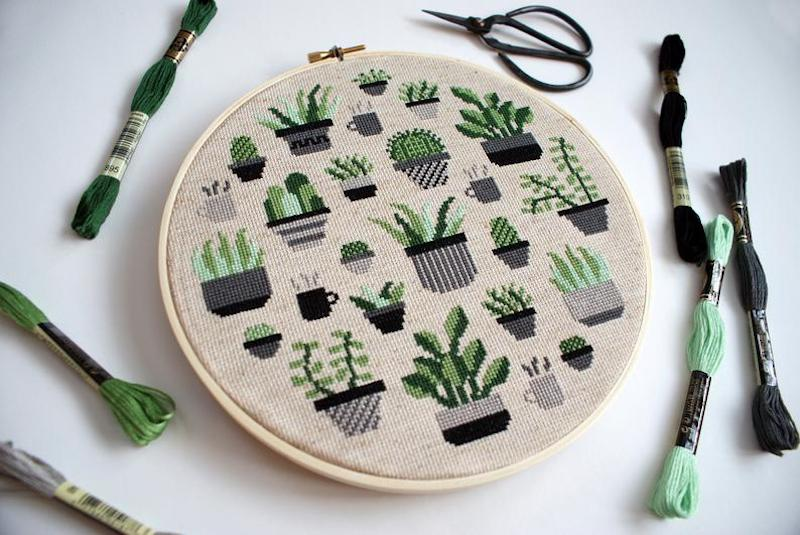 House Plant Cross Stitch Kit
