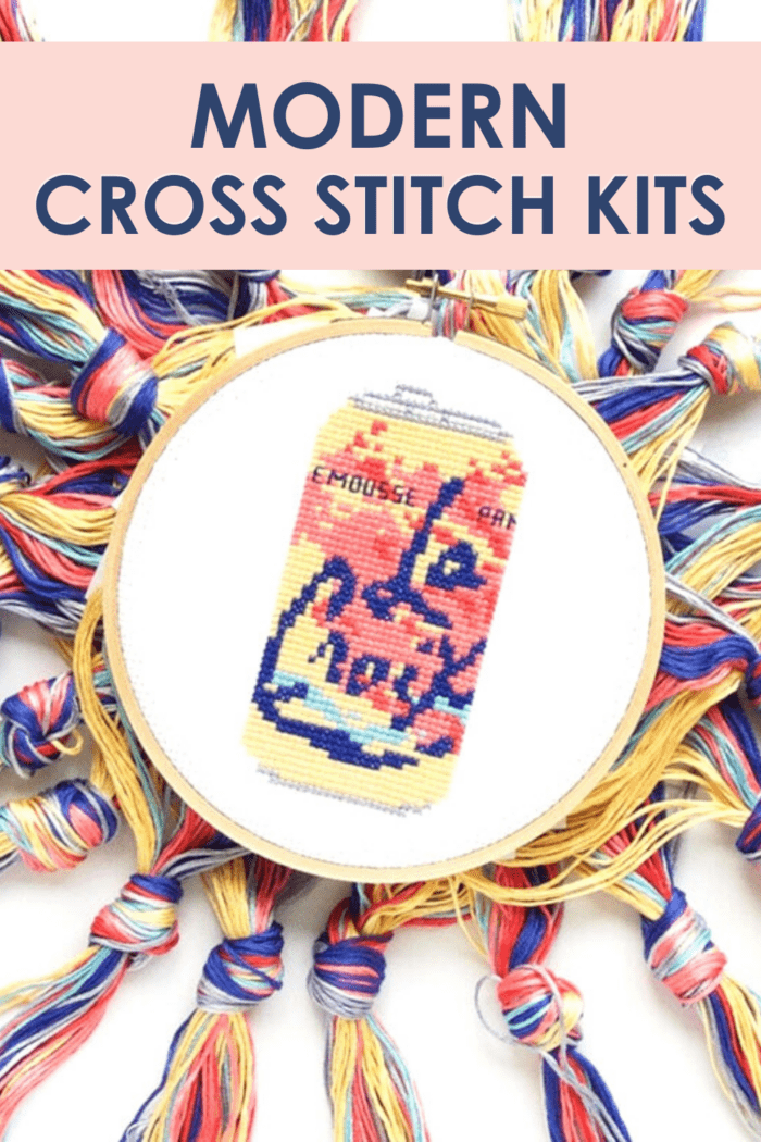 15+ Modern Cross Stitch Kits