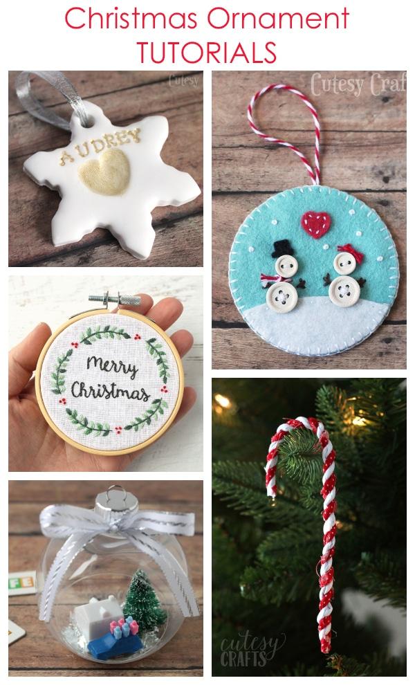 Homemade Christmas Ornament Tutorials