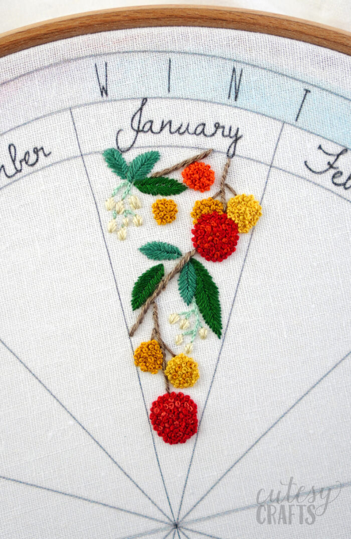 Embroidered Phenology Wheel