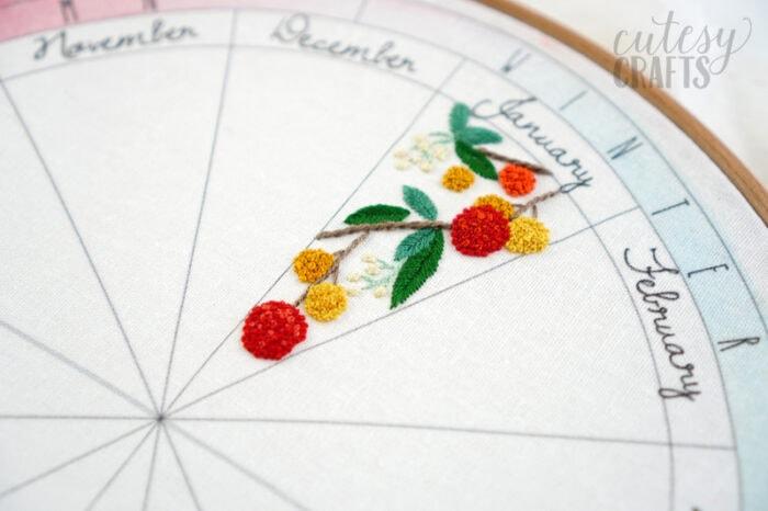 dwarf strawberry tree embroidery