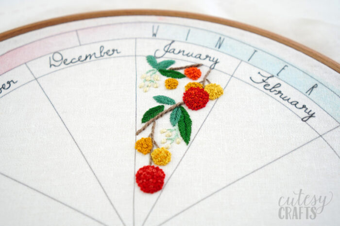 Nature Embroidery Pattern