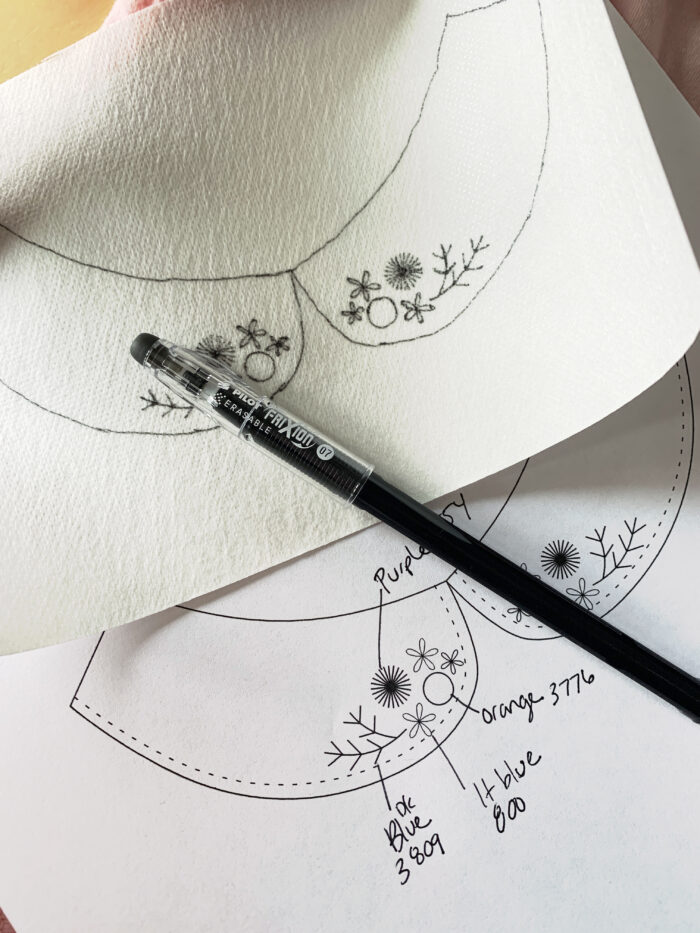 embroider on clothing with fabri solvy