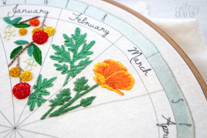 California Poppy Embroidery