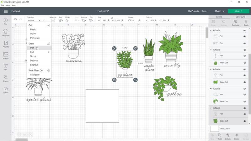 Cricut house plant designs