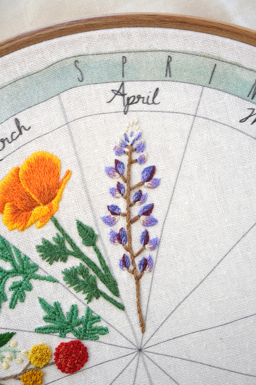 lupine embroidery