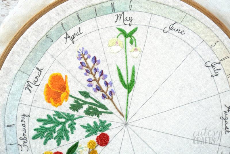 fairy lantern flower embroidery