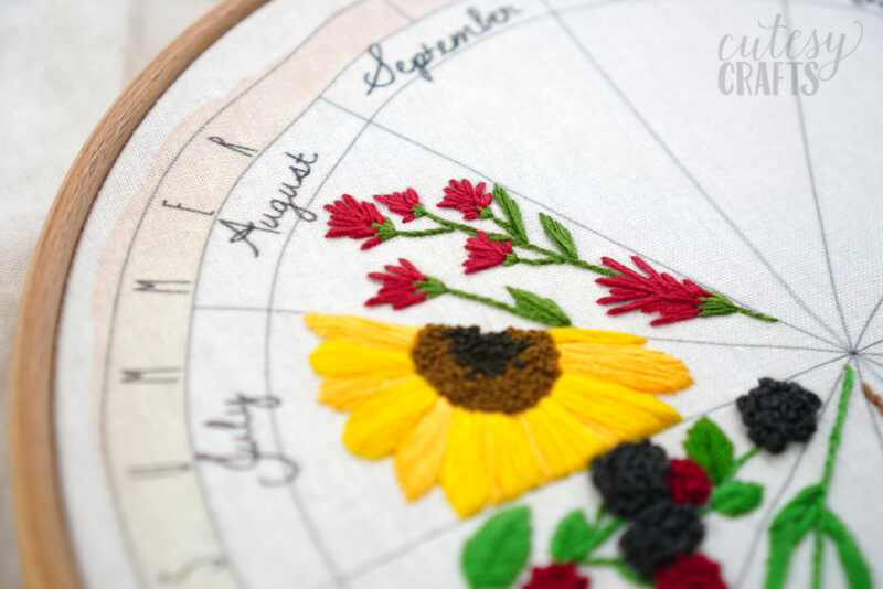 Indian Paintbrush Flower Embroidery