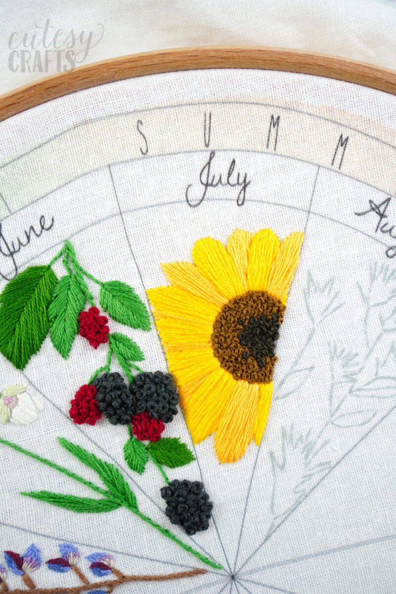 Sunflower Embroidery Pattern