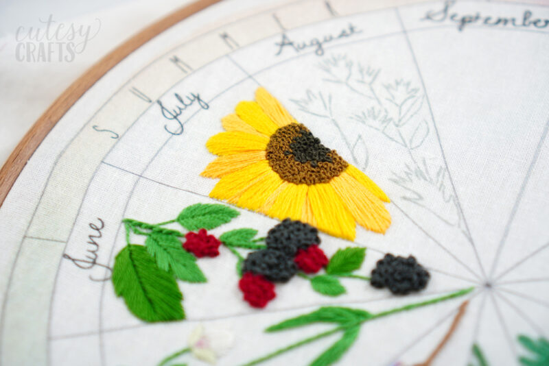 Free Sunflower Embroidery Pattern