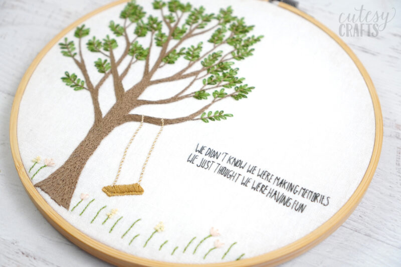 Quote Hand Embroidery Pattern