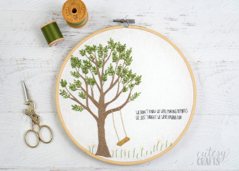 Free Tree Embroidery Pattern