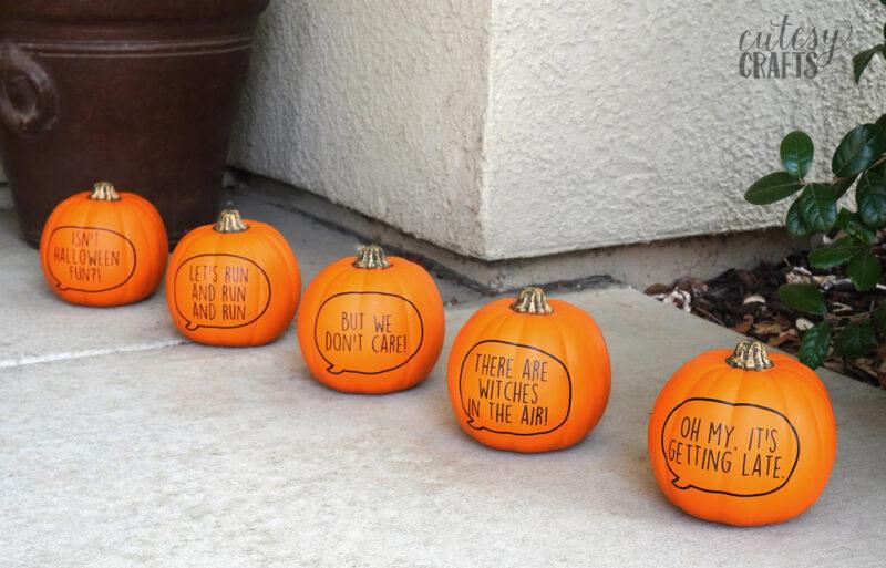 5 Little Pumpkins Craft - DIY Cricut Halloween Idea