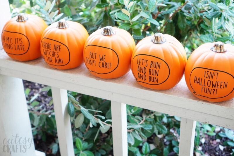 Cricut Pumpkins