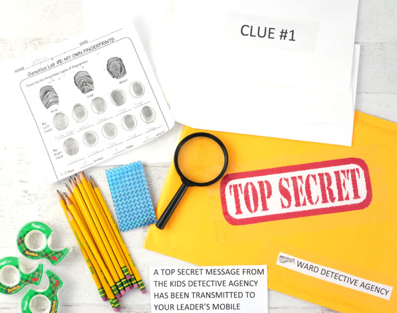 LDS primary activity or scout activity idea!  Detective fingerprinting kids activity.