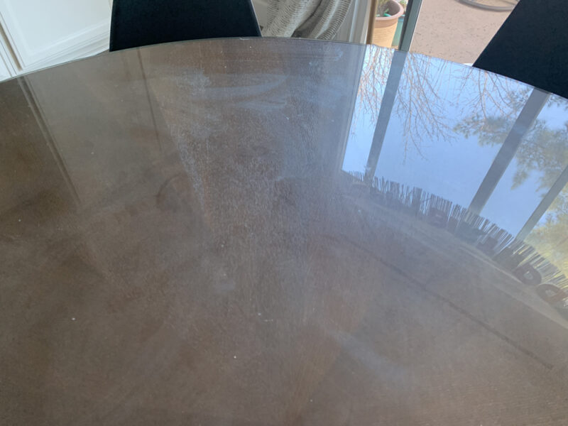 Glass for table